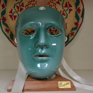Maschera Sartiglia In Ceramica Verde Prodotta Artigianalmente Da Ceramiche Manis