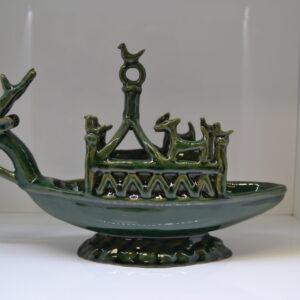 Navicella Nuragica In Ceramica