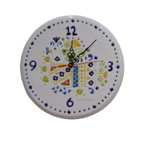 Orologio In Ceramica Col Decoro Pavoncella