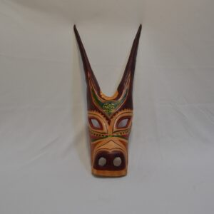 Maschera Boes Di Ottana Dipinta In Pelle Safir