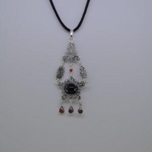 Ciondolo Amuleto Su Coccu In Argento