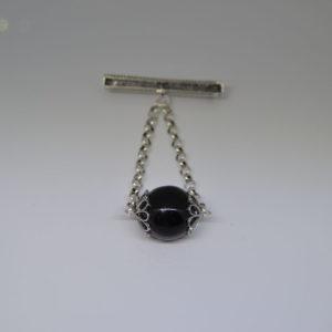 Spilla Amuleto Su Coccu In Argento 800