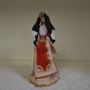Statuina Artistica Donna Rappresentante L'abito Tradizionale Di Oristano
