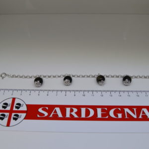 BRACCIALE IN FILIGRANA CON PENDENTI IN OSSIDIANA