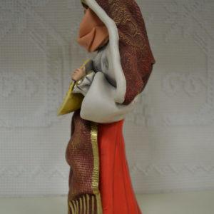 Statuina Artistica Donna Con L'abito Tradizionale Sardo