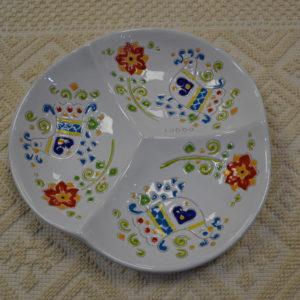 Antipastiera In Ceramica Con Decoro Pavoncella Di Ceramiche Loddo
