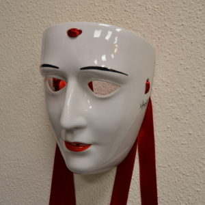 Maschera Sartiglia Con Labbra E Sopracciglia Dipinte