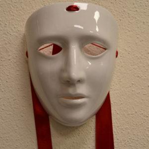 Maschera Sartiglia Bianca In Ceramica