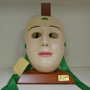 Maschera De Su Componidori Del Gremio Di San Giuseppe In Ceramica