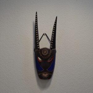 Maschera Boes Di Ottana Dipinta In Legno