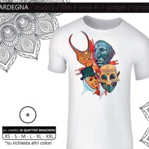 T-Shirt Stampa Maschere Sarde