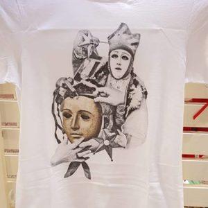 T-Shirt Stampa Maschere Sartiglia