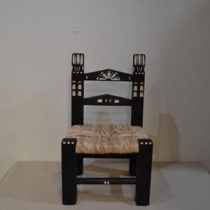 Scannetto In Legno Intagliato (sedia Per Bambino)