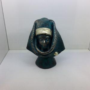 Busto Donna Orgolese In Ceramica