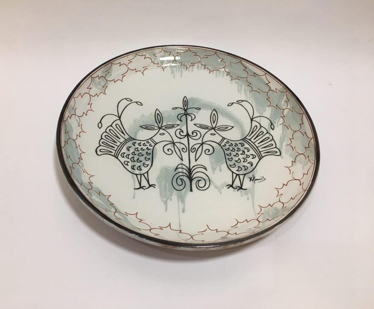 Come Appendere Piatti In Ceramica piatto in ceramica decoro pavoncella