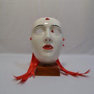 Maschera Sartiglia Con Labbra E Sopracciglia Dipinte A Mano Di Manis