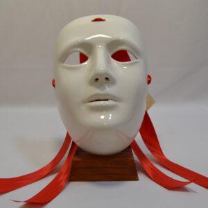 Maschera Sartiglia Bianca In Ceramica Di Manis