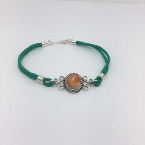 Bracciale Verde Con Amuleto Occhio Di Santa Lucia