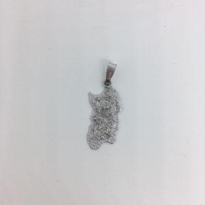 Ciondolo In Filigrana D'argento A Forma Di Sardegna