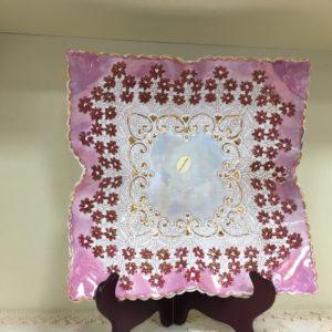 Piatto In Ceramica E Oro Zecchino