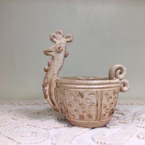 Ciotola Con Gallinella In Ceramica