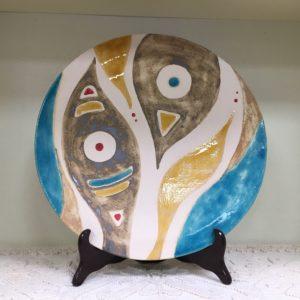 Piatto In Ceramica Con Tre Piedini