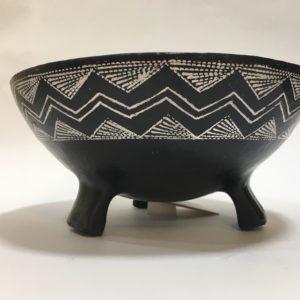 Vaso In Ceramica Artistica Sarda Con Tre Piedini