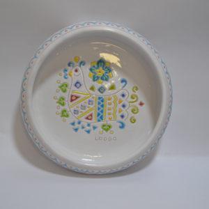 Ciotola Centrotavola In Ceramica Con Decoro Pavoncella