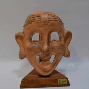 Maschera Modello Cartaginese In Ceramica