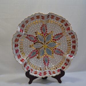 Piatto In Ceramica E Oro Zecchino Sanfilippo