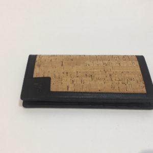 Portacarte In Sughero Con Inserti In Pelle Neri