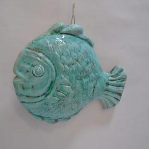 Pesce In Ceramica Celeste Acqua Marina – Da Parete
