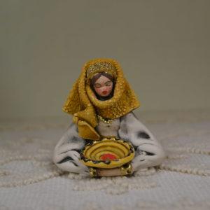 Busto Donna Con L'abito Tradizionale Sardo