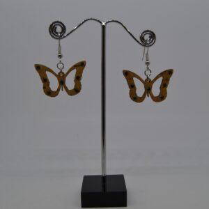 Orecchini In Sughero Farfalle Con Swarovski Verdi