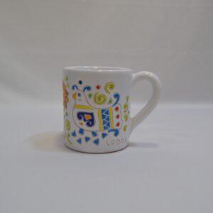 Tazza In Ceramica Con Decoro Pavoncella Ceramiche Loddo