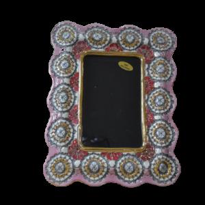Portafoto In Ceramica E Oro Zecchino