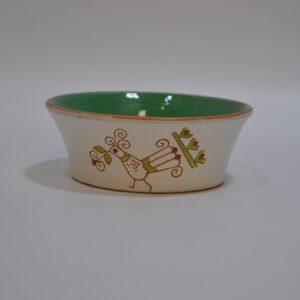 Ciotola In Ceramica Con Decoro Pavoncella