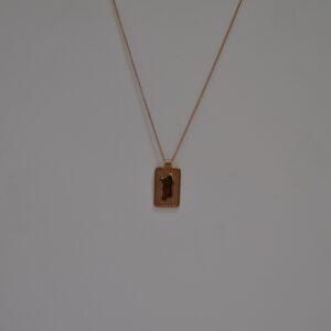 Collana Con Ciondolo In Filigrana D'argento Rosato A Forma Di Sardegna