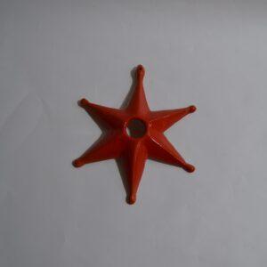 La Stella Della Sartiglia In Ceramica Arancione