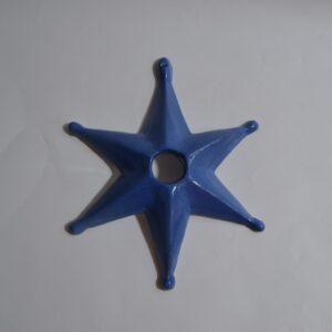 La Stella Della Sartiglia In Ceramica Blu