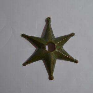 La Stella Della Sartiglia In Ceramica Verde