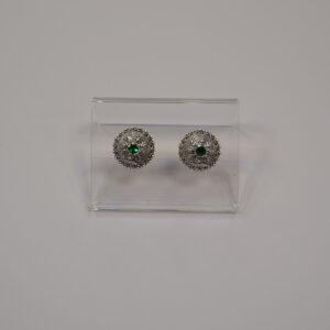 Orecchini In Argento Con Bottone