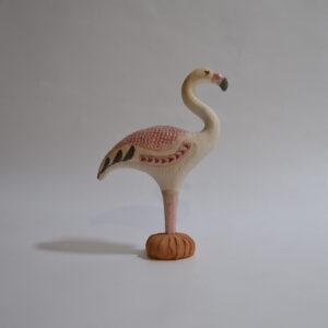 Fenicottero Rosa In Ceramica
