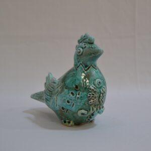 Pavoncella In Ceramica Verde Acqua Marina