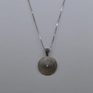 Collana Con Corbula In Filigrana D'argento