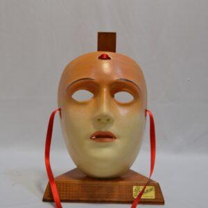 Maschera Sartiglia Con Labbra E Sopracciglia Dipinta A Mano Con Colori Acrilici Di Manis
