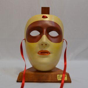 Maschera Sartiglia Con Mascherina E Labbra Dipinta A Mano Con Colori Acrilici Di Manis
