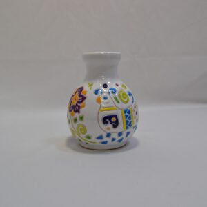 Vaso In Ceramica Con Decoro Pavoncella