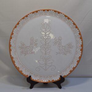 Piatto In Ceramica Con Decoro Pavoncella Farci