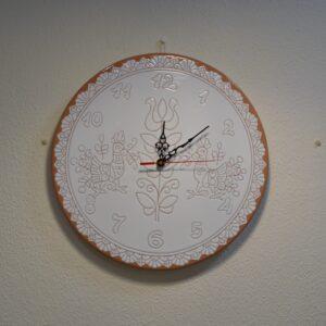Orologio Da Parete In Ceramica Con Decoro Pavoncella Farci